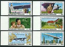 Togo 957-C315 imperf,MNH.Michel 1227B-1232B. Lindberg,Transatlantic flight,1977.