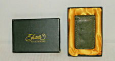 Brown Nicotine Genuine Ostrich Money Clip Fratelli Of Italy- Boxed - New
