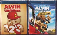 Alvin and The Chipmunks 1, 2, 3 & 4 - Blu-ray Movie Collection BRAND NEW
