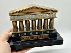 RARE 1999 Stock Exchange NYSE Director's Council Award Trophy Paperweight b12