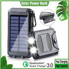 Portable 2000000mAh Traveling Solar Power Bank USB Backup Battery Pack Charger