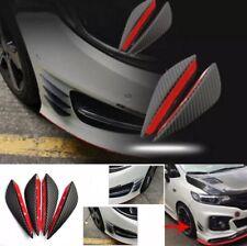 Carbon Fibre Front Bumper Lip Splitter Fins Spoiler Canard Chin Universal Fit x4