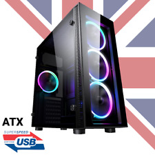 iONZ PC COMPUTER TOWER CASE ATX/M ATX GAMING TEMPERED GLASS FRONT & SIDE WINDOW