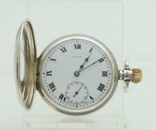 Gentleman's Superb Solid Silver Cased Pinnacle Half Hunter Pocket Watch.