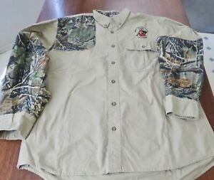 Cabela's Mens Camo Hunting Shooting Shirt Safari Club International