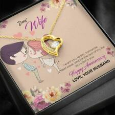 Birthday Gift for Wife from Husband Heart Necklace for Anniversary and Christmas