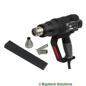 Sealey  HS102K Plastic ABS Welding Kit Hot Air Gun Fairing Bumper Repair