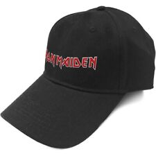 100% Official Licensed Merch BASEBALL CAP Hat w/ High-embossed Logo IRON MAIDEN