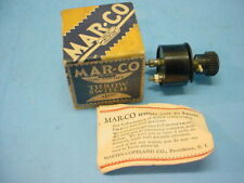 """Vintage MAR-CO MARTIN-COPELAND """"ON & OFF"""" THROW SWITCH BAKELITE NEW in the BOX"""