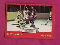 1973-74 OPC #  130 ISLANDERS BILLY HARRIS   ROOKIE EX-MT  CARD (INV# A1300)