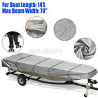 Gray For Jon Boat Cover For Jon Boat 12ft-18ft L Beam Width Up To 75 Inch 210d