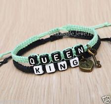 Couples Bracelet king queen Keylock bracelet  Friendship Gift Anniversary Gifts