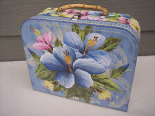Pooch & Sweetheart Floral Large Decorative Suitcase Storage Trinket Box Case