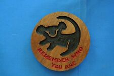 Lion King Walnut Wood Remember Who You Are Magnet American Made/ Homemade