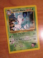 NM(Unlimited) Pokemon GIOVANNI'S NIDORINA Card GYM CHALLENGE Set 44/132 UNCOMMON