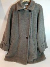 WOMEN'S COAT MAX MARA ITALY GRAY Size 12 Alpaca /Virgin Wool LINED.  Please read
