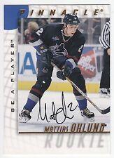 Mattias Ohlund , 1997-98 , Be A Player , Autographs ,  #215