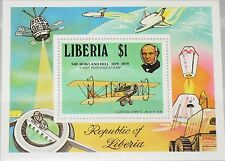Liberia 1979 bloque 93 S/s 848 Rowland Hill Curtiss Jenny Airplane avión mnh