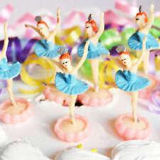 6 Ballerina Blue Cake Topper Ballet Favor Dance Party Dance Team Decoration
