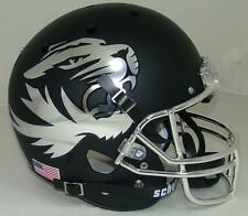 MISSOURI TIGERS CHROME MATTE BLACK SCHUTT REPLICA FOOTBALL HELMET