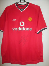 Jaap Stam 2000-2002 Signed Manchester United Home Football Shirt with COA /20066