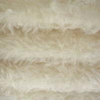 "1/4 yard INTERCAL White 1"" Medium-Sparse Curly Mohair Teddy Bear Fabric"