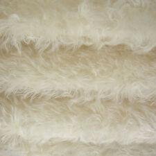 "1/4 yd 380S/C White INTERCAL 1"" Medium-Sparse Curly German Mohair Fur Fabric"