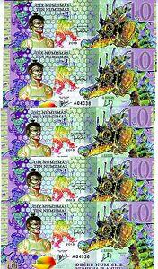 LOT Kamberra, 5 x 10 Numismas, POLYMER, 2013, UNC > Commemorative, Seahorse