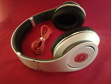 Used Original Monster Beats by Dr Dre STUDIO Earphones Headphones White Genuine
