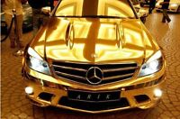 Mirror Chrome [GOLD]  Wrap Vinyl 3M x 1.5 meter [BUBBLE FREE]