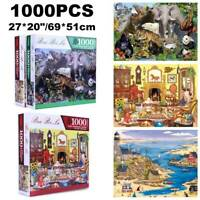1000Pieces Jigsaw Puzzles Education Learning Game Puzzle Adult Xmas Gift 69/51cm