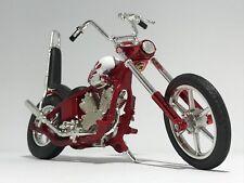 OLD RED CHOPPER IRON MOTORBIKE scale 1:18  diecast model toy bike car