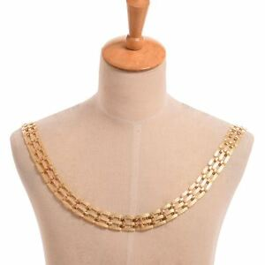 Medieval Chain Of Office Livery Collar SCA Tudor Gold Color Cosplay Necklace