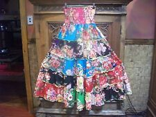 "BOOMSHANKAR/""GO GIRL!"" BOHO TIERED FULL SKIRT - SIZE 8 - 12"