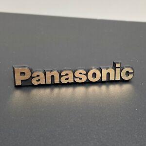 Vintage Panasonic Badge Nameplate Logo Emblem Electronics TV Speaker VCR Radio