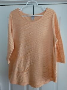 CHICO'S Long Casual Women's Top Size 3