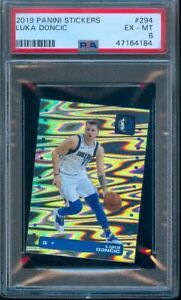 2019 Panini Stickers #294 Luka Doncic Rookie Of The Year Graded PSA 6