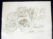 """Jacques Villon, né Gaston Émile Duchamp, gravure  """"Les Frontières du matin"""" 1962"""