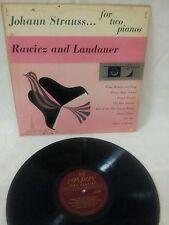 "JOHANN STRAUSS - ""FOR TWO PIANOS"" - RAWICZ AND LANDAUER - VOL. 1 LONDON LL.1210"