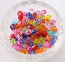 500pcs Faceted  bicone crystal glass loose 4MM 6MM beads 35 Colors, Wholesale!