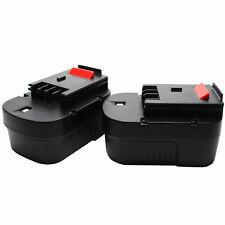 2X Battery for Black & Decker 499936-34 - 2000mAh, NICD, 14V