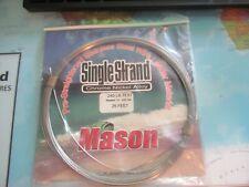 Mason Single Strand 240 Lb 25 Feet Pre-Straightened Stainless Steel Leader Silve