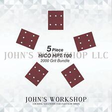 HICO HPT-100 - 1/4 Sheet - 2000 Grit - No-Slip - 5 Sandpaper Bundle