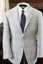 LIGHTEN UP Ring Jacket Alpaca Lt Gray Glen Plaid Check Prince Wales POW 3 Patch