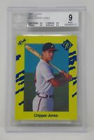 1990 Classic Yellow #T92 Chipper Jones Rookie Braves 🔥 Beckett 9 MINT