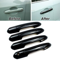 Gloss Black Style Side Door Handle Cover Trim Bezel for Toyota RAV4 2019-2021