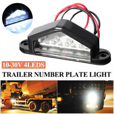 10-30V 4 LED NUMBER LICENSE PLATE LIGHT TAIL LAMP BULD TRUCK TRAILER WATERPROOF
