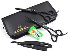 "6"" Professional Hairdressing Shears & Haircutting Barber Thinning Scissor Black"