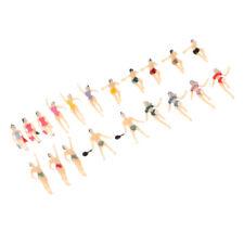 20x Echelle 1/150 Peint Modèle Figure Personnes Accessoires pour Nageur