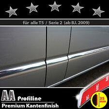 VW T5 09-15 Chrom Zierleisten 3M Tuning Türleisten 5 Stk BREIT